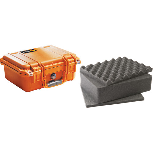 Pelican 1400 Case with Foam (Orange)