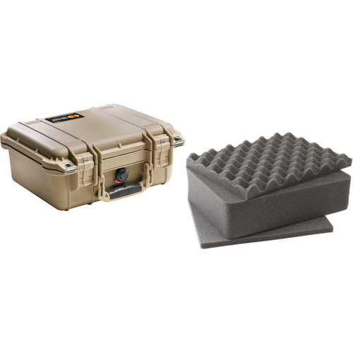 Pelican 1400 Case with Foam (Desert Tan)