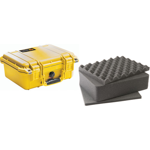 Pelican 1400 Case with Foam (Yellow)