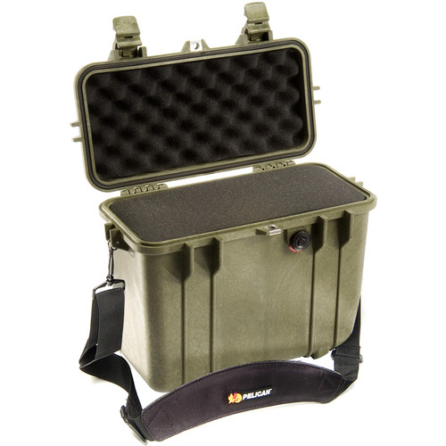 Pelican 1430 Top Loader Case with Foam (Olive Drab)