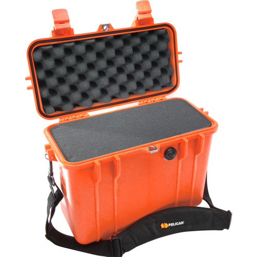 Pelican 1430 Top Loader Case with Foam (Orange)