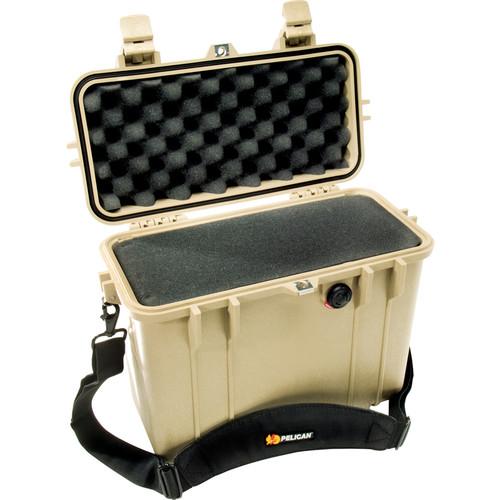 Pelican 1430 Top Loader Case with Foam (Desert Tan)