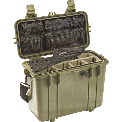 Pelican 1434 Top Loader 1430 Case with Photo Divider Set (Olive Drab)