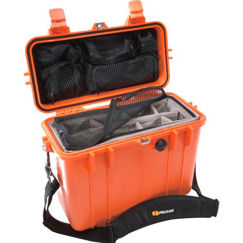 Pelican 1434 Top Loader 1430 Case with Photo Divider Set (Orange)