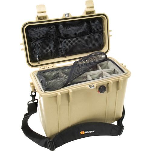Pelican 1434 Top Loader 1430 Case with Photo Divider Set (Desert Tan)