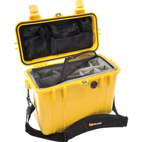 Pelican 1434 Top Loader 1430 Case with Photo Divider Set (Yellow)