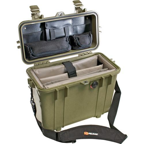 Pelican 1437 Top Loader 1430 Case with Office Divider Set (Olive Drab)