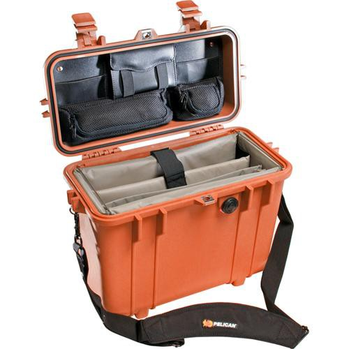 Pelican 1437 Top Loader 1430 Case with Office Divider Set (Orange)