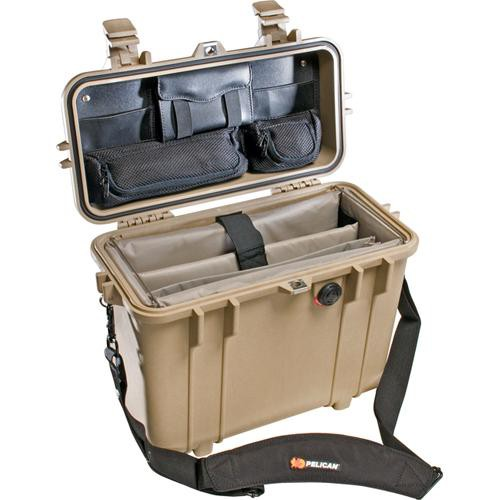 Pelican 1437 Top Loader 1430 Case with Office Divider Set (Desert Tan)