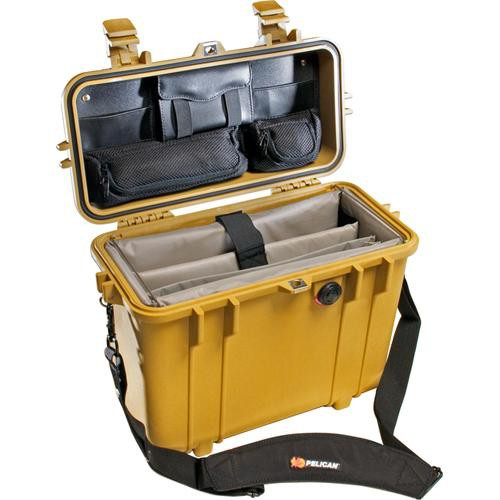 Pelican 1437 Top Loader 1430 Case with Office Divider Set (Yellow)