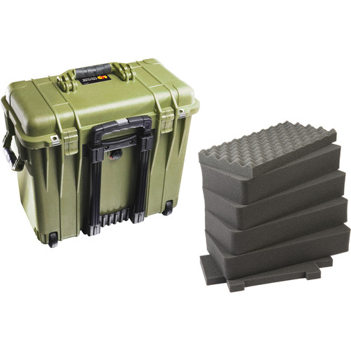 Pelican 1440 Top Loader Case with Foam (Olive Drab)