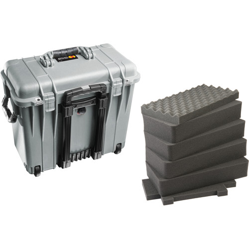 Pelican 1440 Top Loader Case with Foam (Silver)