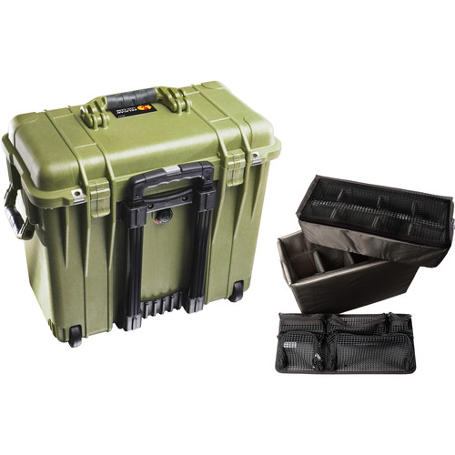 Pelican 1444 Top Loader 1440 Case with Utility Divider (Olive Drab Green)