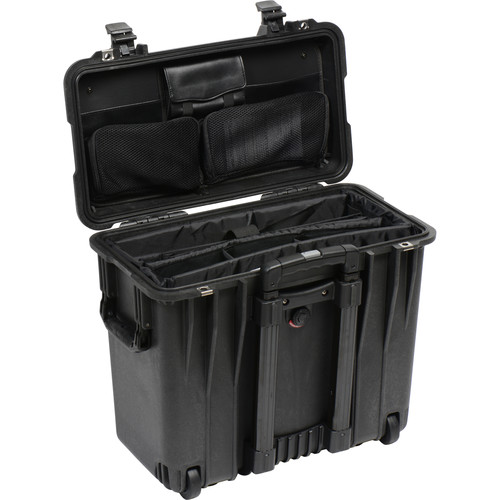Pelican 1447 Top Loader 1440 Case with Office Divider (Black)