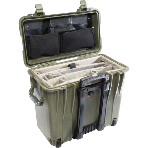 Pelican 1447 Top Loader 1440 Case with Office Divider (Olive Drab Green)