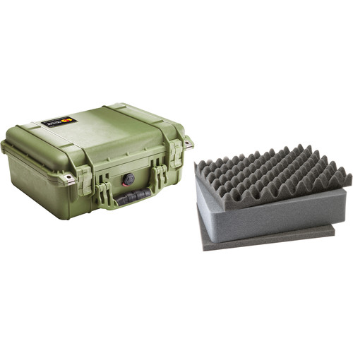 Pelican 1450 Case with Foam (Olive Drab)