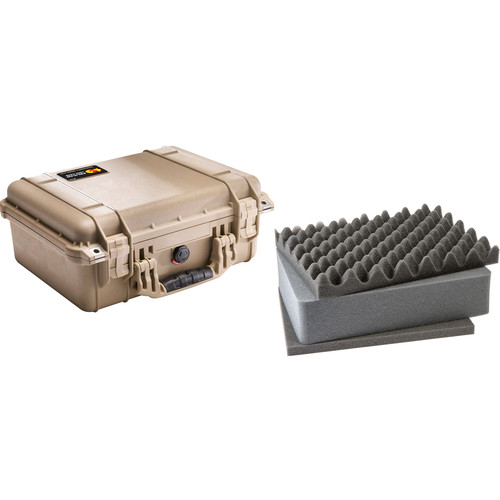 Pelican 1450 Case with Foam (Desert Tan)