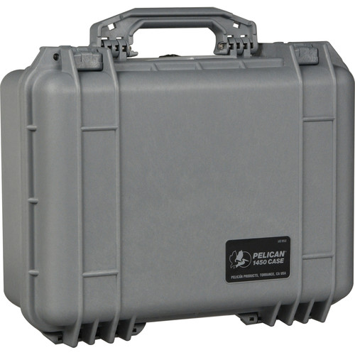 Pelican 1450NF Case without Foam (Silver)
