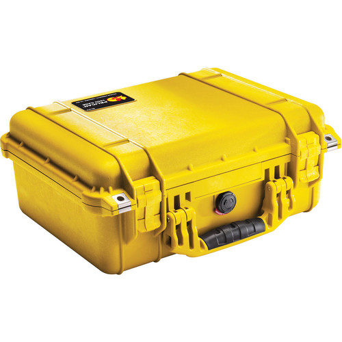 Pelican 1450NF Case without Foam (Yellow)
