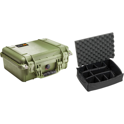 Pelican 1450 Case with Dividers (Olive Drab Green)
