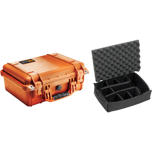 Pelican 1450 Case with Dividers (Orange)