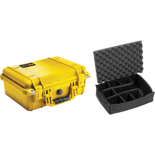 Pelican 1450 Case with Dividers (Yellow)