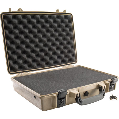 Pelican 1470 Computer Case with Foam (Desert Tan)