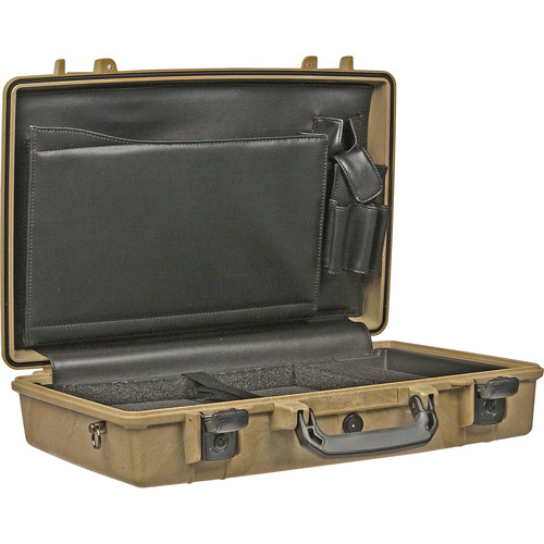 Pelican 1490CC1 Computer Case with Lid Organizer and Tray (Desert Tan)
