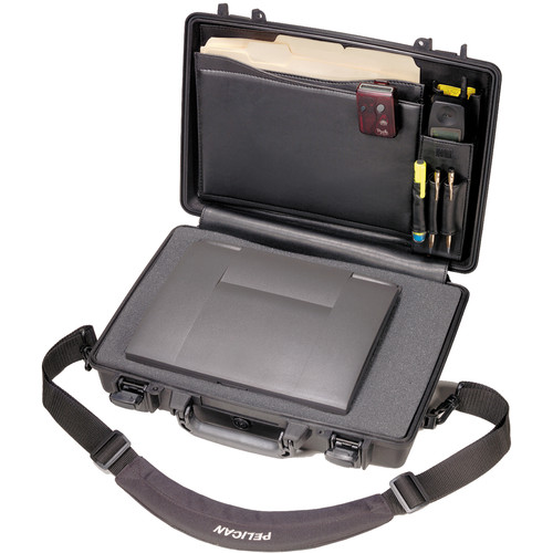 Pelican 1490CC2 Computer Case with Lid Organizer and Foam (Black)