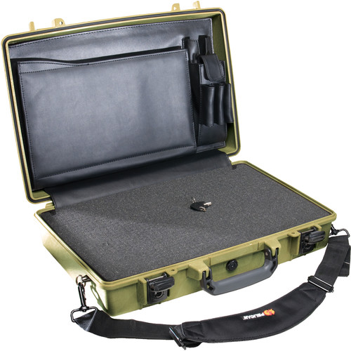 Pelican 1490CC2 Computer Case with Lid Organizer and Foam (Olive Drab Green)