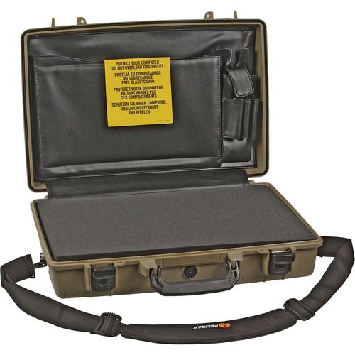 Pelican 1490CC2 Computer Case with Lid Organizer and Foam (Desert Tan)