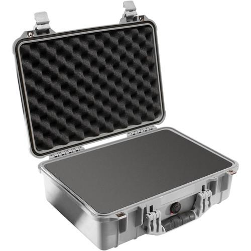 Pelican 1500 Case with Foam (Silver)