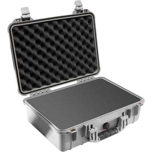 Pelican 1500 Case with Foam (Silver)
