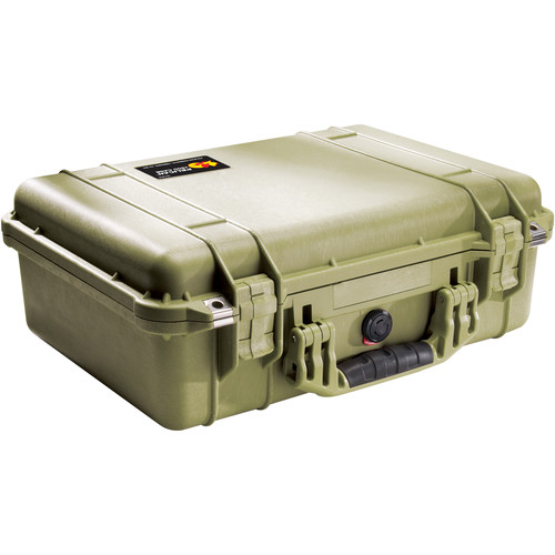 Pelican 1500NF Case without Foam (Olive Drab Green)