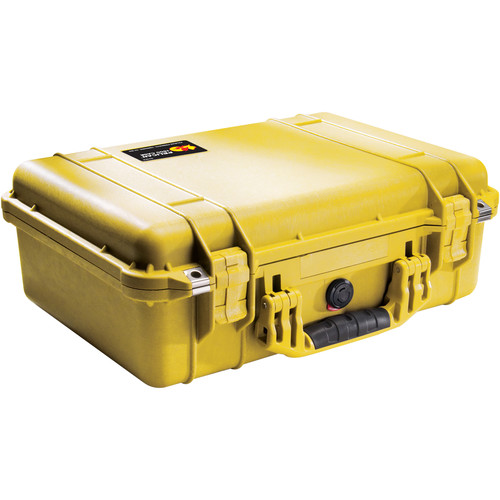 Pelican 1500NF Case without Foam (Yellow)