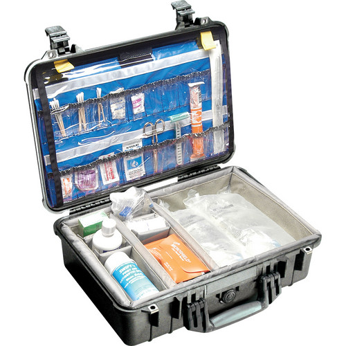 Pelican 1500EMS Watertight ATA Hard Case with EMS Organizer and Dividers (Black)