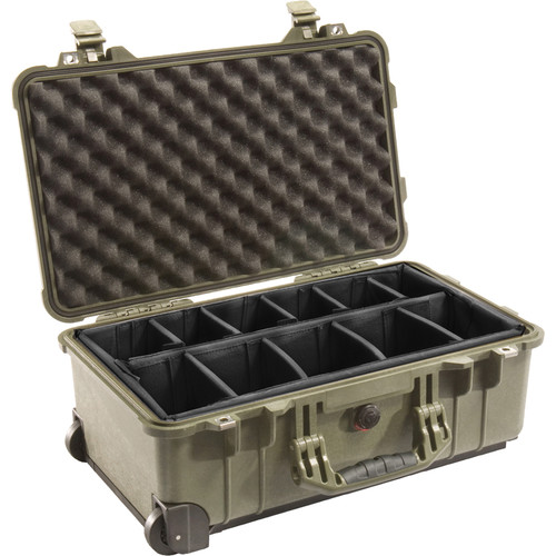 Pelican 1510 Carry On Case with Dividers (Olive Drab)