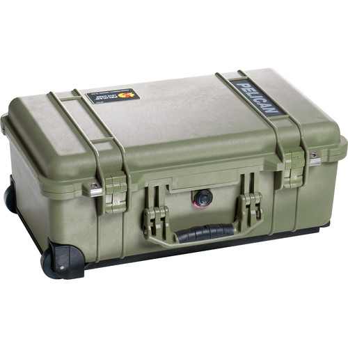 Pelican 1510SC Studio Case with Lid Organizer and Yellow Divider Set (Green)