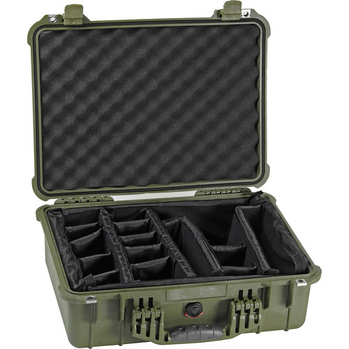 Pelican 1524 Waterproof 1520 Case with Padded Dividers (Olive Drab)