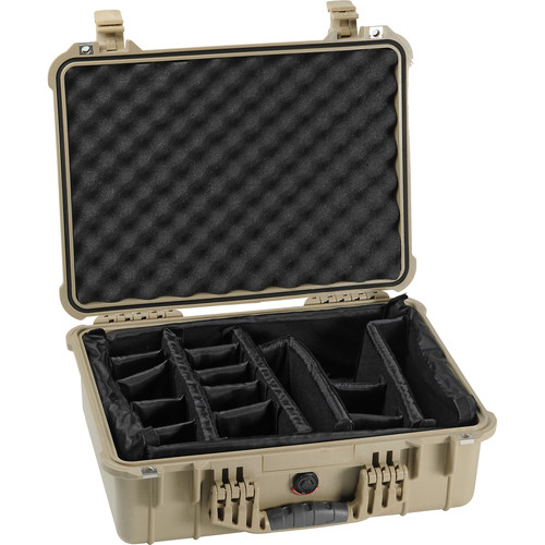 Pelican 1524 Waterproof 1520 Case with Padded Dividers (Desert Tan)