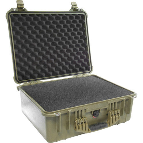 Pelican 1550 Case with 4-Piece Foam Set (Olive Drab Green)