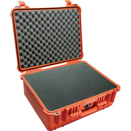 Pelican 1550 Case with 4-Piece Foam Set (Orange)