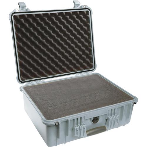 Pelican 1550 Case with 4-Piece Foam Set (Silver)