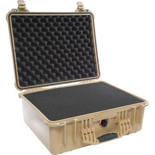 Pelican 1550 Case with 4-Piece Foam Set (Desert Tan)