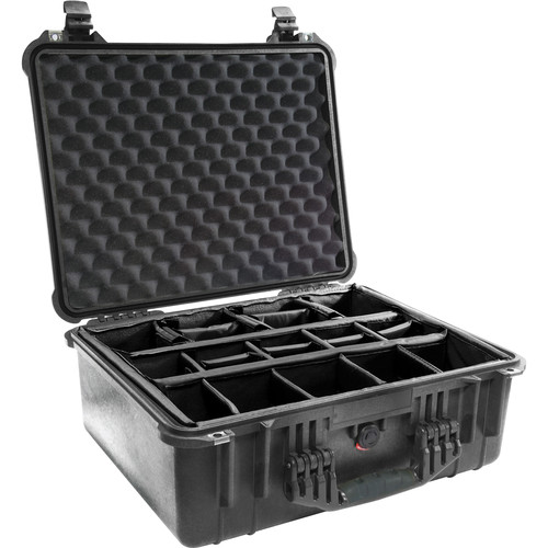 Pelican 1554 Waterproof 1550 Case with Dividers (Black)