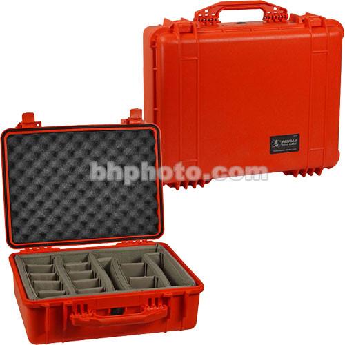 Pelican 1554 Waterproof 1550 Case with Dividers (Orange)