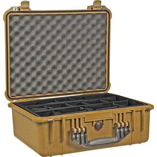 Pelican 1554 Waterproof 1550 Case with Dividers (Desert Tan)