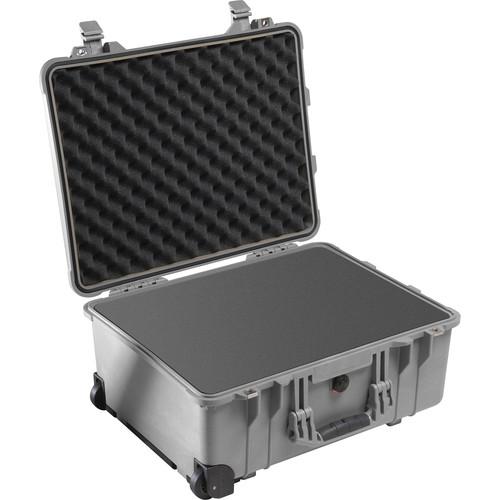Pelican 1560 Case with Foam Set (Silver)