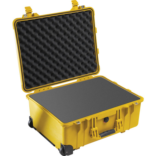 Pelican 1560 Case with Foam Set (Yellow)