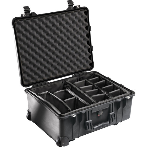 Pelican 1564 Waterproof 1560 Case with Dividers (Black)